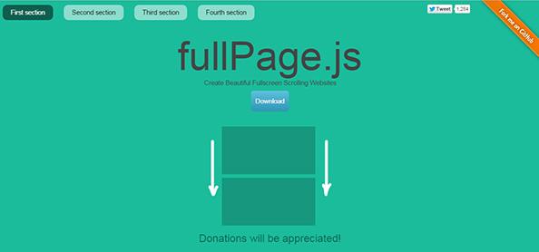 fullpage.js公式ページ