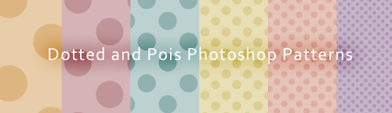 Dotted and Pois Photoshop Patterns